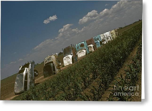 Cadillac Ranch, Amarillo, Texas Greeting Card by Will & Deni McIntyre