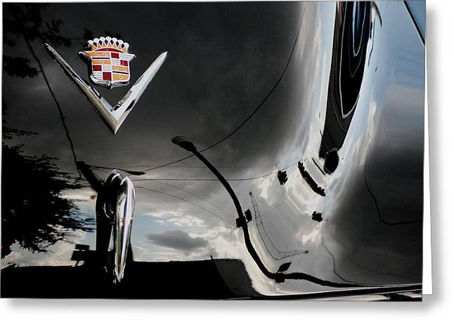 Streetlight Greeting Cards - Cadillac Reflection Greeting Card by Robert Meanor