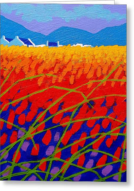 Yule Greeting Cards - Cadmium Scape Greeting Card by John  Nolan