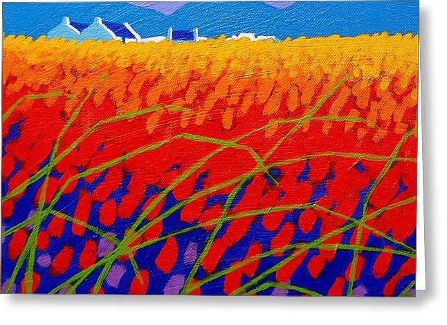Cadmium Scape Greeting Card by John  Nolan