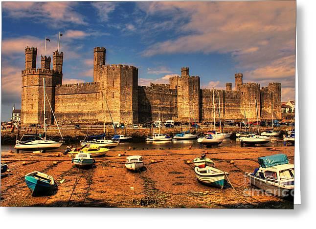 Chris Evans Greeting Cards - Caernarfon Castle  Greeting Card by Chris Evans