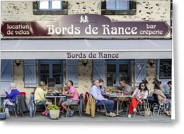 Recently Sold -  - People Greeting Cards - Cafe at River Rance Greeting Card by Ning Mosberger-Tang