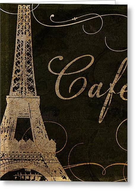 Paris Paintings Greeting Cards - Cafe de Paris  Greeting Card by Mindy Sommers