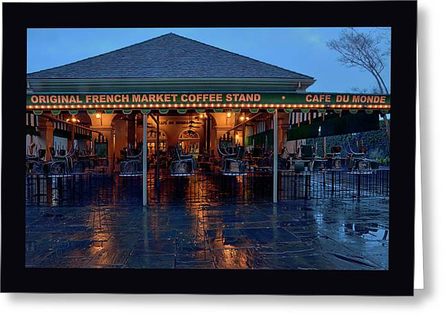 Cafe Du Monde At Dawn - New Orleans Greeting Card by Mitch Spence