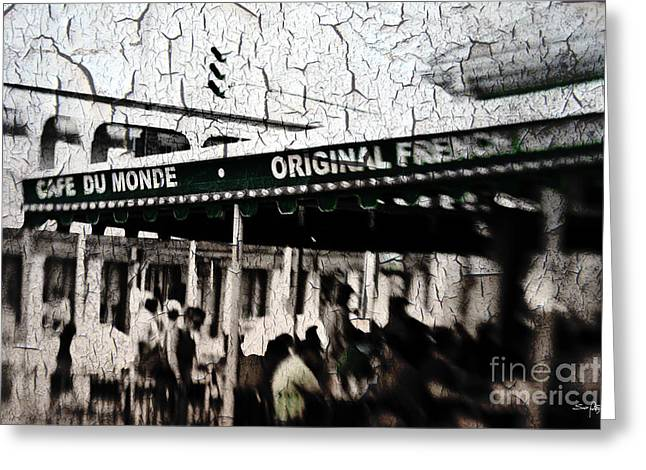 South Louisiana Greeting Cards - Cafe Du Monde Greeting Card by Scott Pellegrin