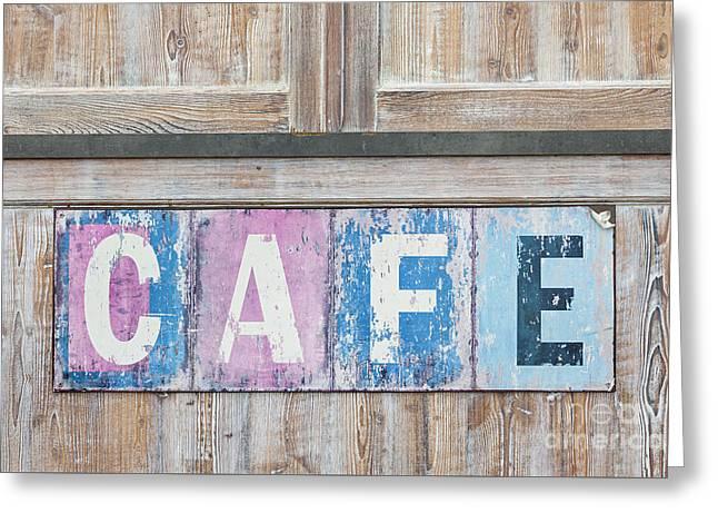 Woodgrain Greeting Cards - Cafe Greeting Card by Elena Elisseeva