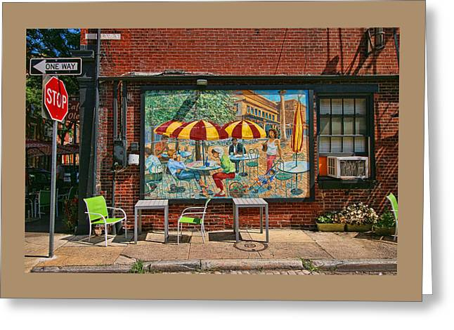 Abstract Style Greeting Cards - Cafe Ole Greeting Card by Allen Beatty