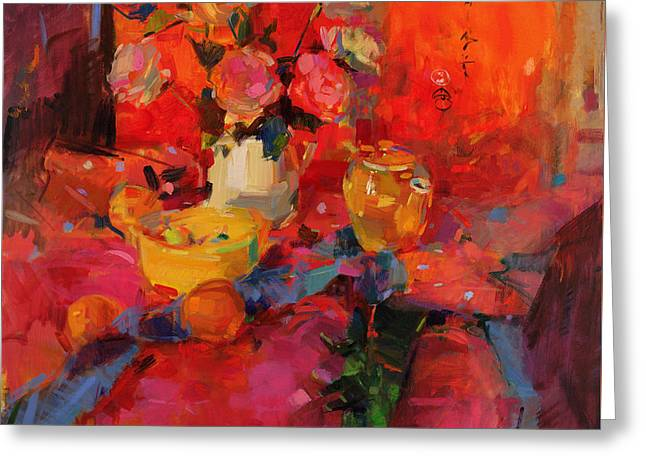 Colorful Roses Greeting Cards - Cafe Royal Greeting Card by Peter Graham