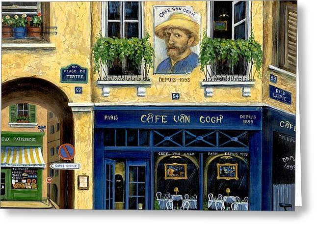 Cafe Van Gogh Greeting Card by Marilyn Dunlap