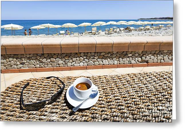 Sicily Greeting Cards - Cafe Greeting Card by Wolfgang Steiner