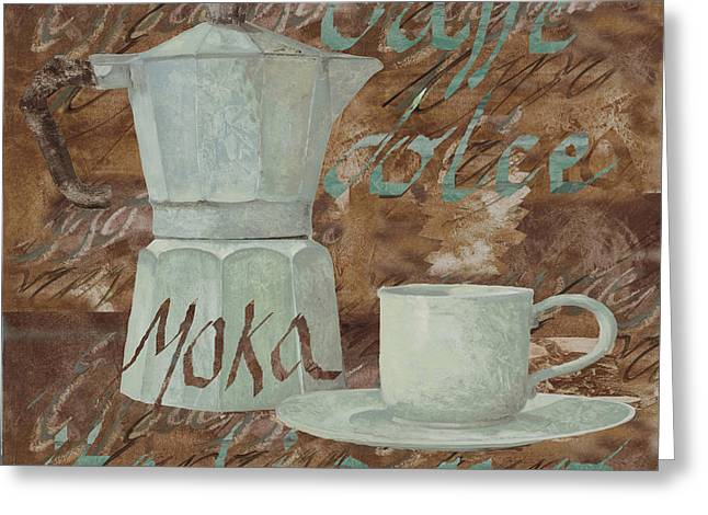 Smoke. Greeting Cards - Caffe Espresso Greeting Card by Guido Borelli