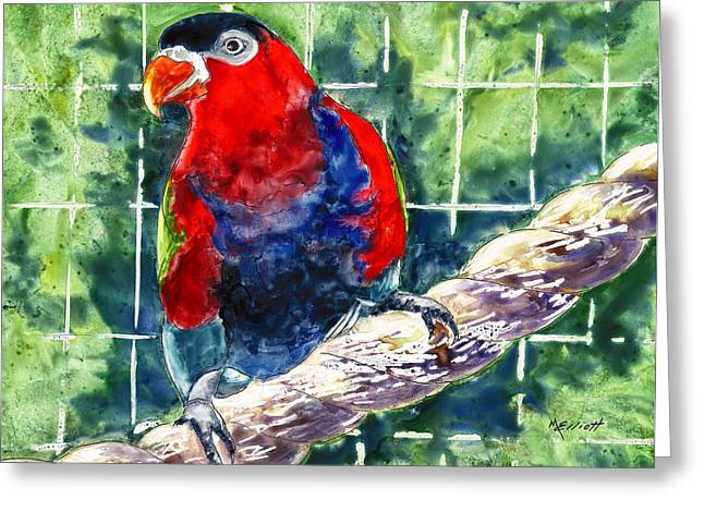 Bird Cage Greeting Cards - Caged Greeting Card by Marsha Elliott