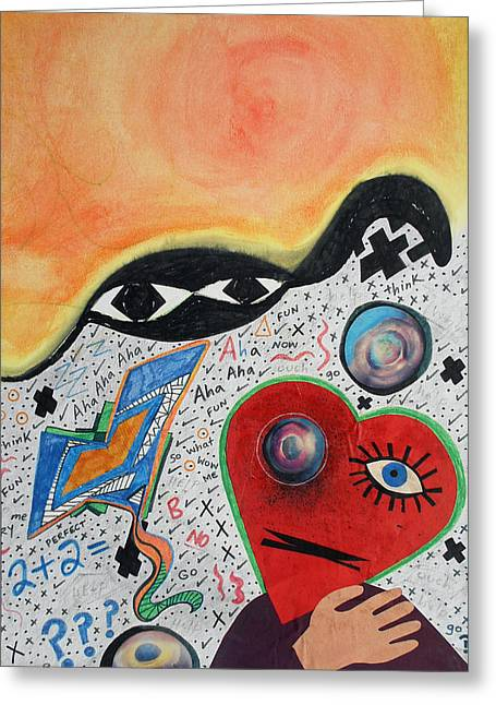 Liberation Mixed Media Greeting Cards - Caged Soul Greeting Card by Laura Joan Levine