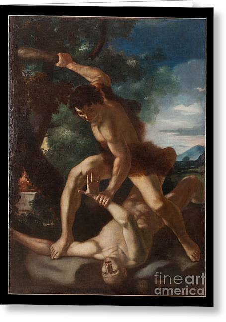 Cain Greeting Cards - Cain and Abel Greeting Card by Celestial Images