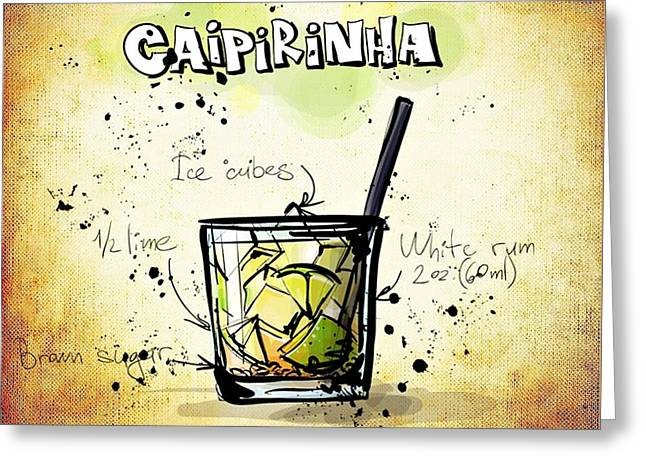 Gathering Mixed Media Greeting Cards - Caipirinha Greeting Card by Movie Poster Prints