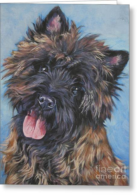 Brindle Greeting Cards - Cairn terrier Brindle Greeting Card by Lee Ann Shepard