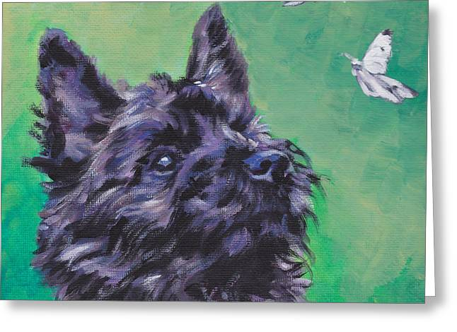 Brindle Greeting Cards - Cairn Terrier Greeting Card by Lee Ann Shepard