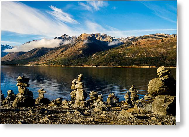 Rock Pile Greeting Cards - Cairns at Jackson Lake Greeting Card by TL  Mair
