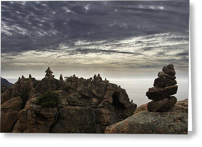 Stones Greeting Cards - Cairns Greeting Card by Fabien Bravin