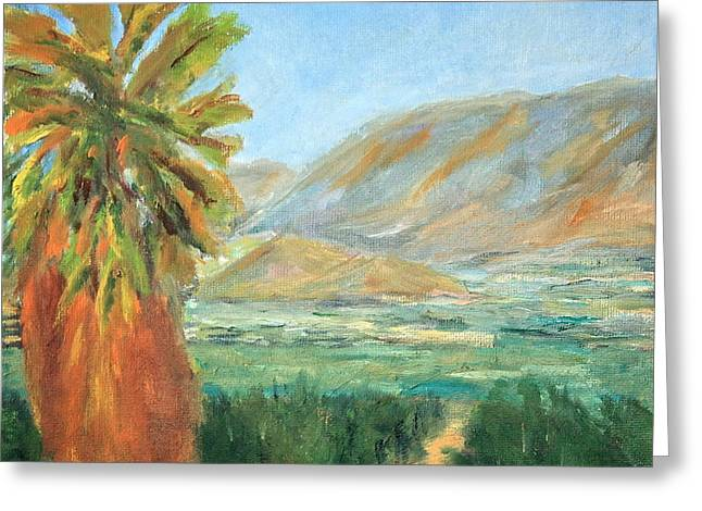Prospects Greeting Cards - Cajon Pass From Prospect Park Greeting Card by Marilyn Froggatt