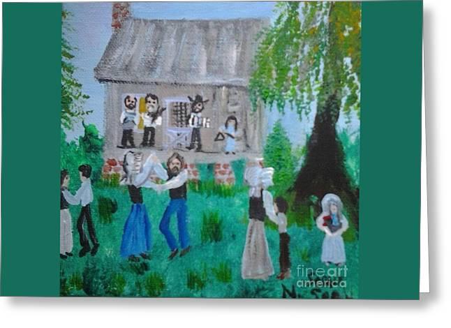 Cajun House Dance Greeting Card by Seaux-N-Seau Soileau