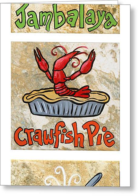 Zydeco Greeting Cards - Cajun Trio White Greeting Card by Elaine Hodges