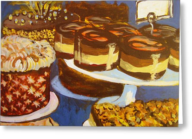 Cake Case Greeting Card by Tilly Strauss