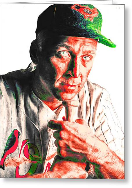 Cal Ripken Jr Digitally Painted 3 Greeting Card by David Haskett