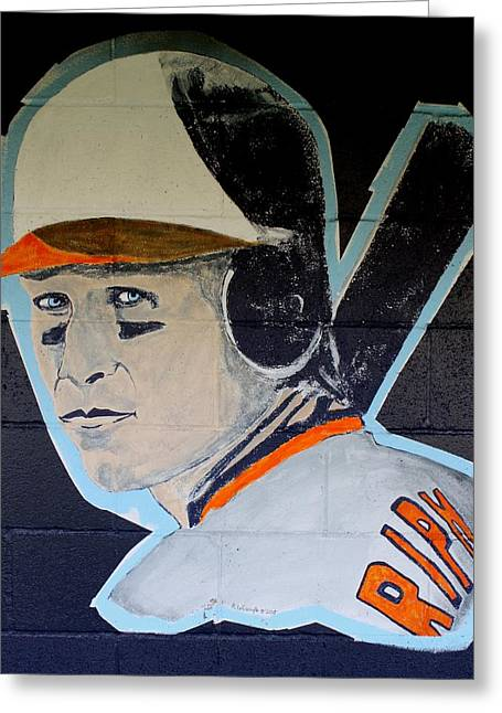 Cal Ripken Jr. Greeting Card by Ralph LeCompte