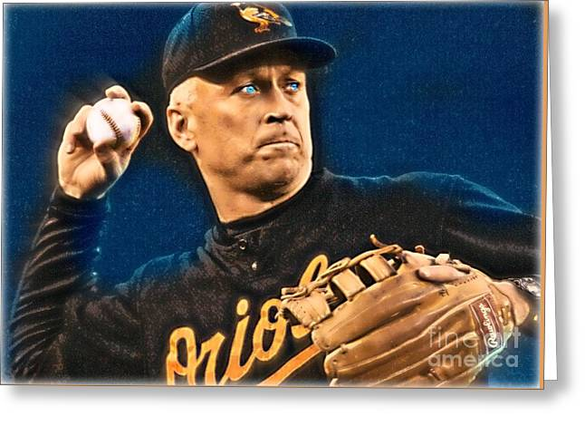 Cal Ripken Greeting Card by Wbk