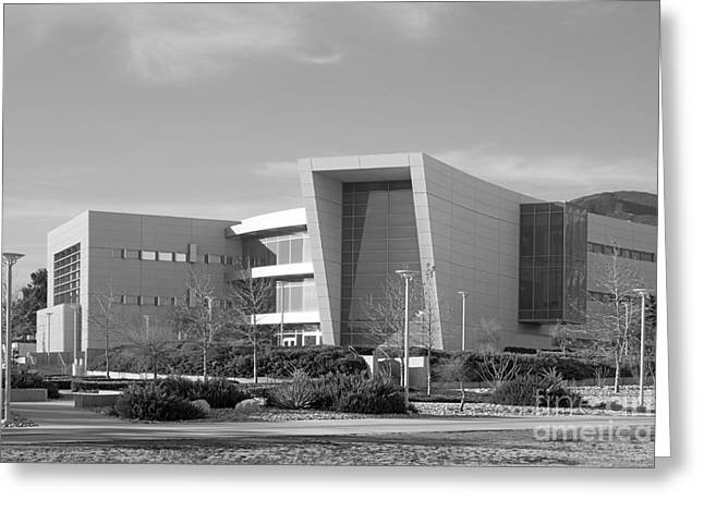Best Present Greeting Cards - Cal State University San Bernardino College of Education Building Greeting Card by University Icons