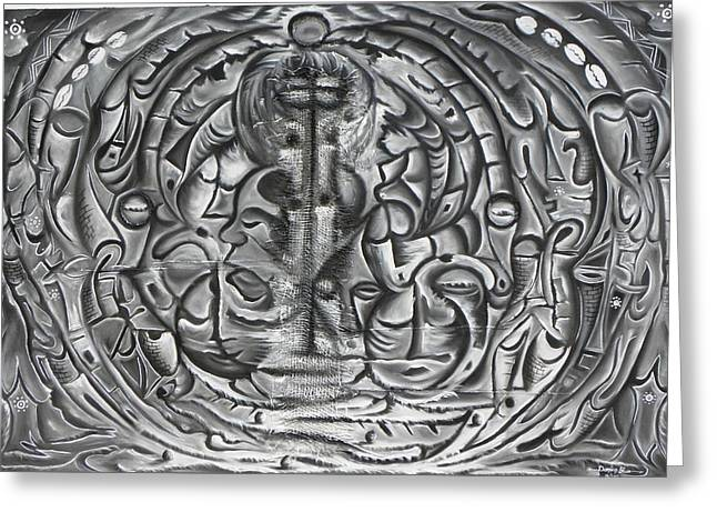 Lanscape Reliefs Greeting Cards - Calabash Rituals Greeting Card by Nyuyse Damien