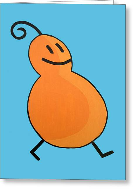 Orange Shirt Greeting Cards - Calabaza Greeting Card by Oliver Johnston