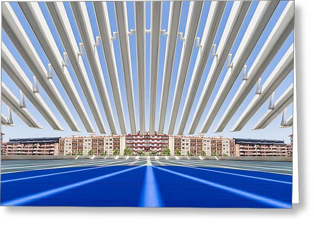 Congress Greeting Cards - Calatrava Congress Centre / Oviedo Greeting Card by Herbert A. Franke