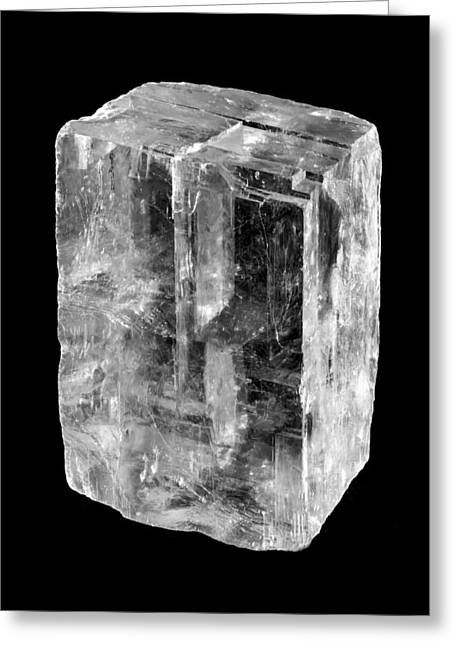 Calcite Crystal Greeting Card by Jim Hughes