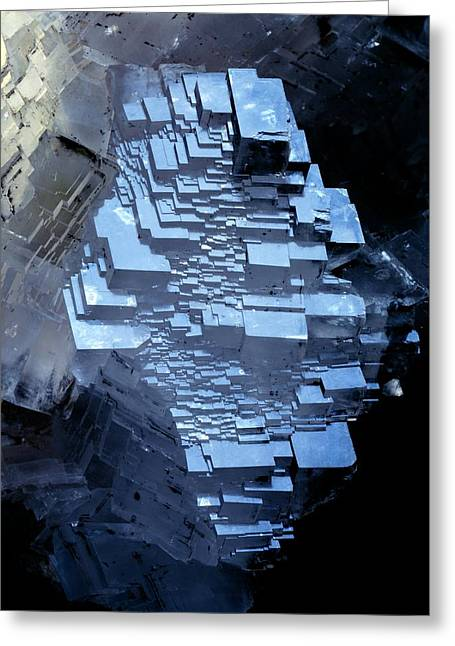 Mineral Photographs Greeting Cards - Calcite Crystals Greeting Card by Dirk Wiersma