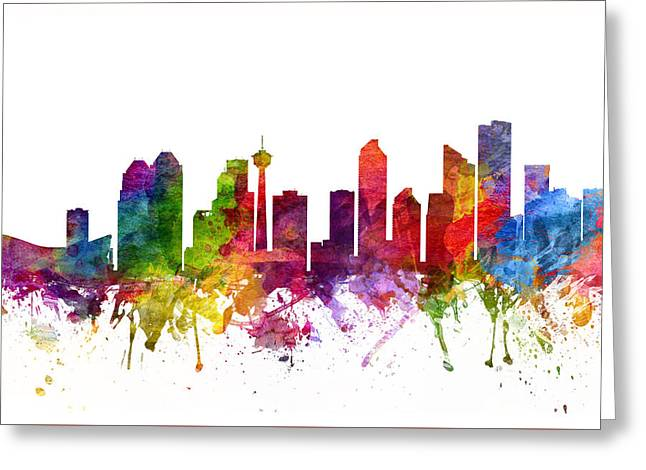 Calgary Greeting Cards - Calgary Canada Cityscape 06 Greeting Card by Aged Pixel