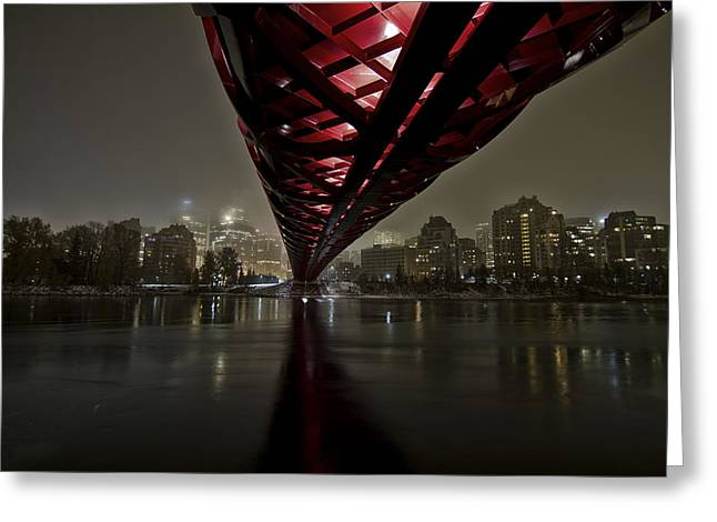 Calgary Peace Bridge Greeting Card by Helder Martins