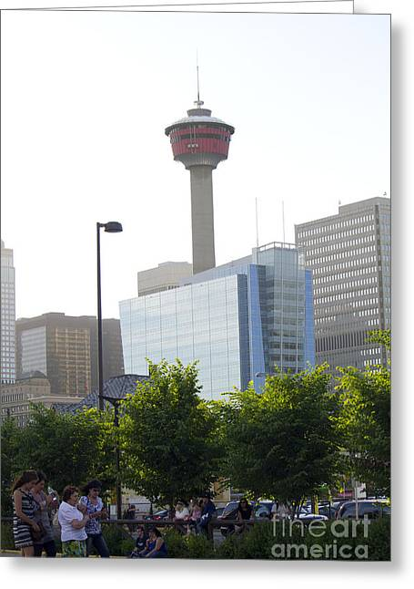 Duchess Of Cambridge Greeting Cards - Calgary Tower View 2 Greeting Card by Donna Munro