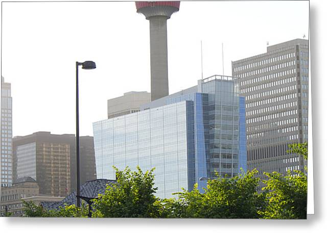 Calgary Tower View 2 Greeting Card by Donna Munro
