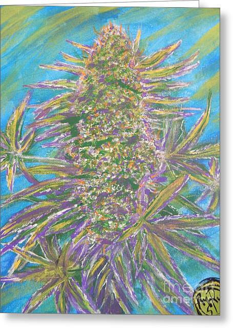 Medication Paintings Greeting Cards - Cali Love Greeting Card by Ryan  Rinard
