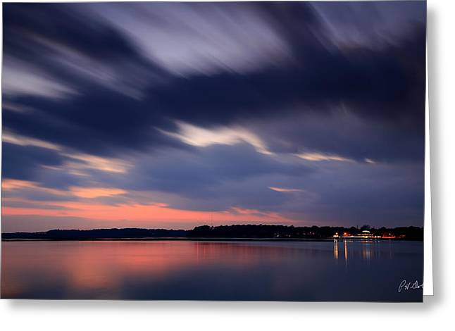 Photographic Images Greeting Cards - Calibogue Sound After Dark Greeting Card by Phill  Doherty