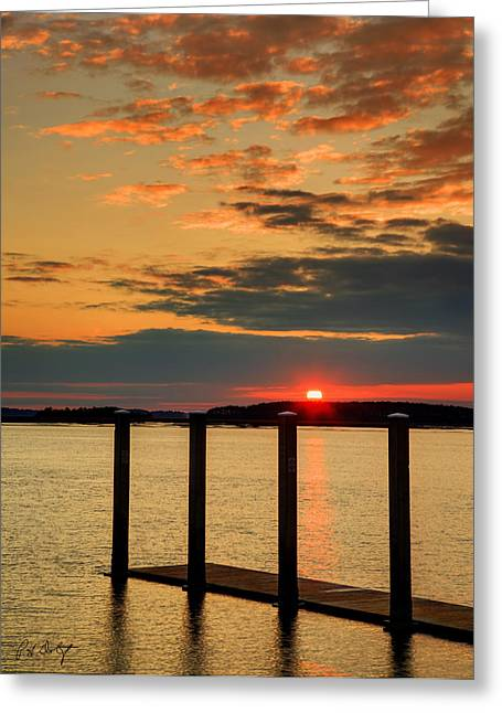 Photographic Images Greeting Cards - Calibogue Sound Sunset Greeting Card by Phill  Doherty