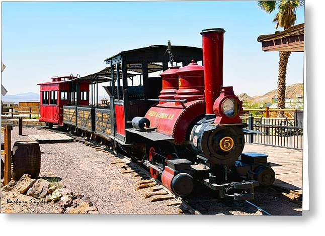 Caboose Greeting Cards - Calico and Odessa Rail Road Photo Greeting Card by Barbara Snyder