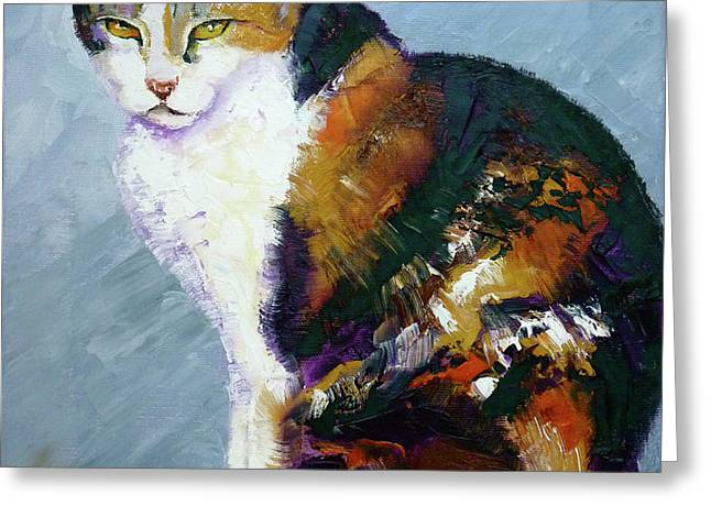Calico Buddy Greeting Card by Susan A Becker