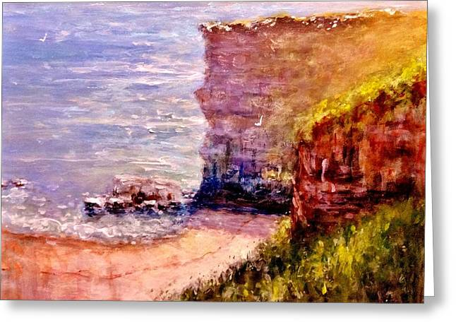 Sea Animals Greeting Cards - California cliffs.. Greeting Card by Cristina Mihailescu