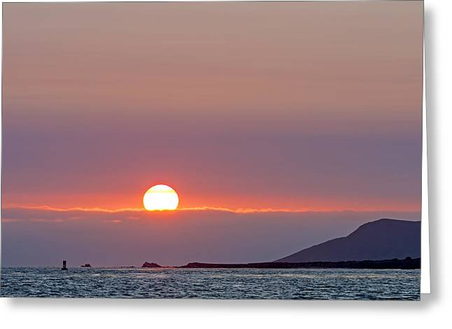 Colorful Cloud Formations Greeting Cards - California Coast at Sunset Greeting Card by Kerry Drager
