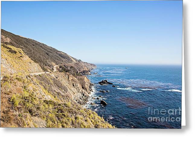 California Ocean Photography Greeting Cards - California Coastal Highway Greeting Card by Scott Pellegrin
