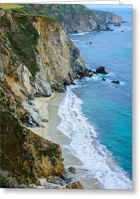 Big Sur Greeting Cards - California Coastline Big Sur Greeting Card by Cristi Canepa
