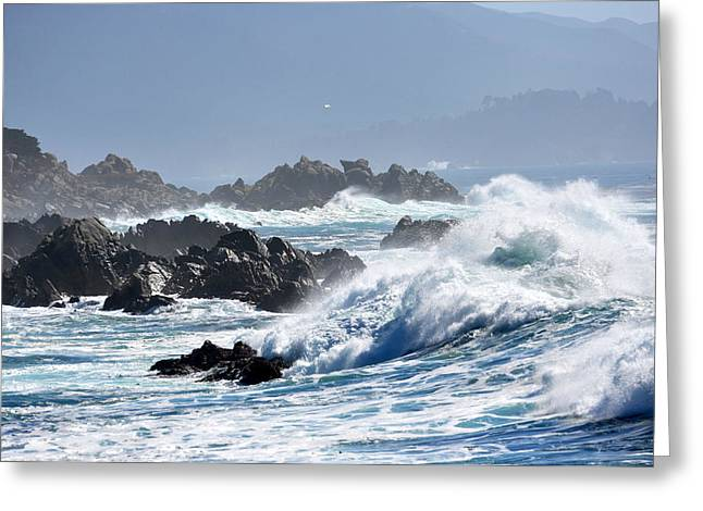 Scenic Drive Greeting Cards - California Coastline Greeting Card by Pamela Schreckengost